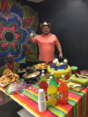 Homemade Mexican feast